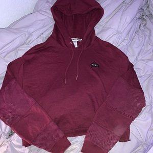 maroon cropped hoodie